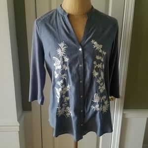 Lauren Conrad Button Blouse,  Size XL
